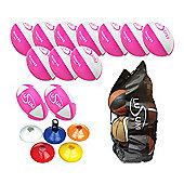 Lusum Rugby Coaching Pack, 12 Balls, Size 4