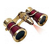 Braun 3x25 LED OPERA Binoculars Burgundy/Black