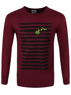 I'm Watching You Burgundy Men's Long-sleeve T-Shirt