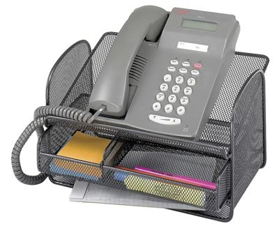 Safco Onyx Mesh Telephone Stand in Black