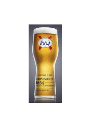 Kronenbourg 1664 Official Lager Beer Glass Pint 570ml Set of 2
