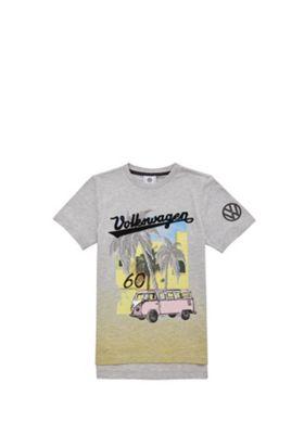 Volkswagen Ombre Campervan T-Shirt Grey 5-6 years