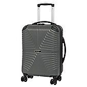 IT Luggage Intersection 8 Wheel Grey Cabin Suitcase