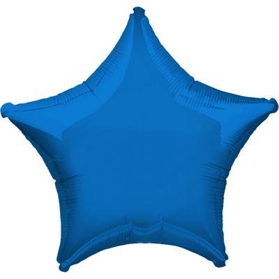 Blue Star Balloon - 32 inch Metallic Foil