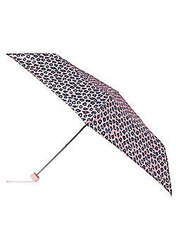 Totes Leopard Print Supermini Umbrella - Pink