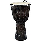"World Rhythm 10"" Jammer Rough Bark Dark Djembe Drum"
