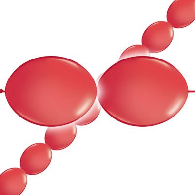 Red Quick link Balloons - 6 inch - 50 Pack