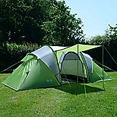 Trail Hartland 4-Man Tunnel Tent With Awning - Green