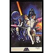 Framed Star Wars Poster signed by Kenny Baker