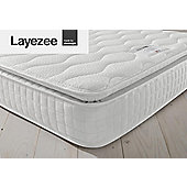 Layezee by Silentnight 800 Pocket Pillow Top Memory Mattress