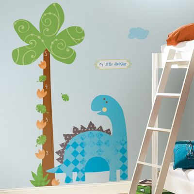 Nursery Height Chart Wall Stickers - Babysaurus