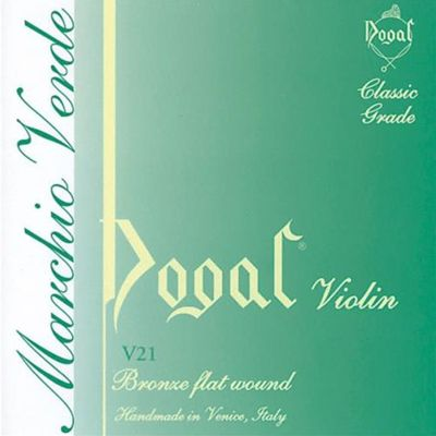Dogal V21A Green Series Violin String Set - 4/4 to 3/4