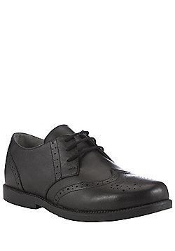 F&F Wide Fit Leather School Brogues - Black