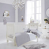 Clair de Lune 2pc Cot/Cot Bed Bedding Set (Silver Lining Grey)