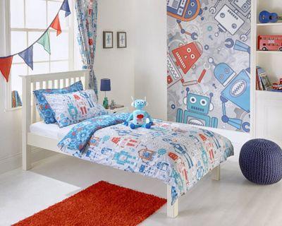 Riva Home Robot Blue Duvet Cover Set - Toddler (120x150cm)