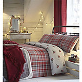 Fusion Christmas Robin Duvet Cover Set - Red