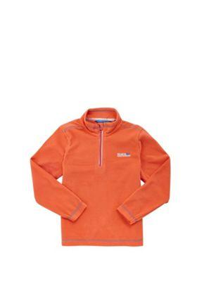 Regatta Hot Shot II Half Zip Fleece Neon Peach 3-4 years