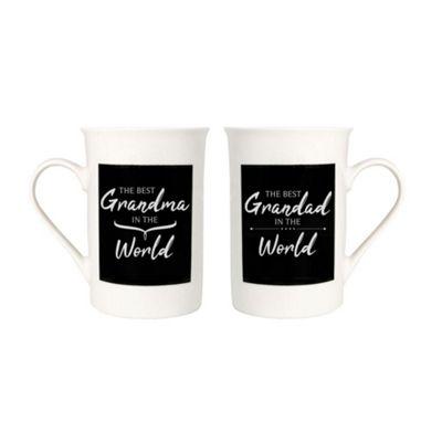 Modern and Decorative Best Grandma and Grandad In The World Mug Gift Set