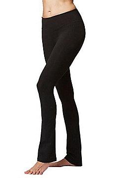 Women's Fitness Gym Sports Slim Fit Trouser Black - Short Length - Black