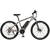"Surge Mens 27.5"" Wheel Mid Drive Electric Mountain Bike, Grey"