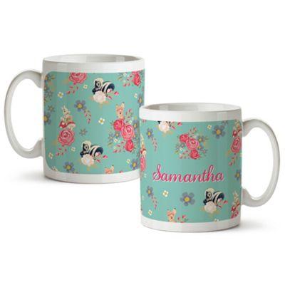 Disney Bambi Personalised Floral Mug