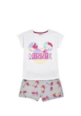 Disney Minnie Mouse Palm Tree Pyjamas White 6-7 years