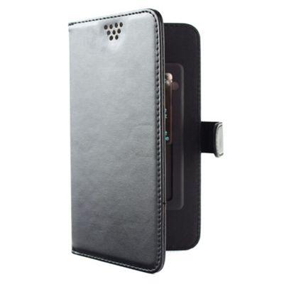 Folio Slider Case│Protective Mobile Phone Flip Cover+Credit Card Slot│M Size│BLK