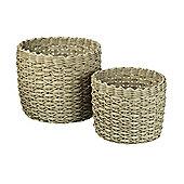 Parlane Set of Two round Storage Baskets - 17 x 22, 22 x 28cm