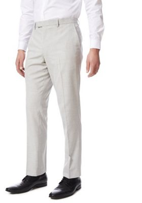 F&F Slim Fit Suit Trousers Light Grey 34 Waist 29 Leg