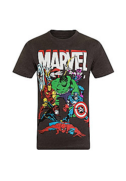 Marvel Comics Mens T-Shirt - Charcoal grey