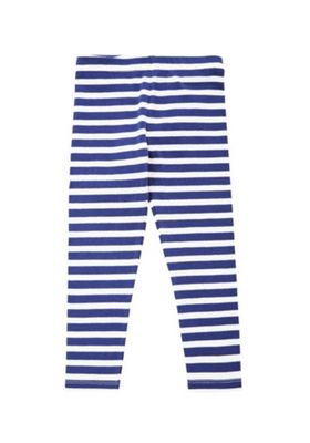 F&F Striped Leggings Navy 18-24 months