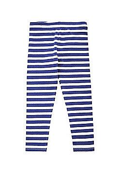 F&F Striped Leggings - Navy