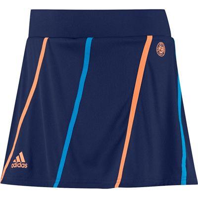adidas Roland Garros Womens Girls Sports Skort Skirt Blue - UK 0-2
