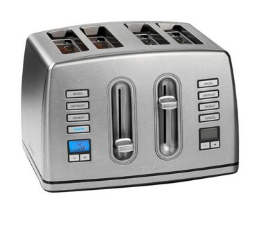 Cuisinart CPT445U 4 Slice Toaster - Brushed Stainless Steel