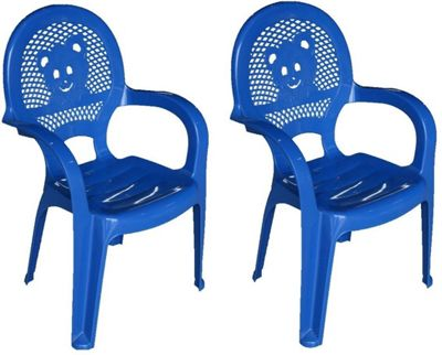Resol Childrens Garden Plastic Chair - Blue - (Pack of 2 chairs)