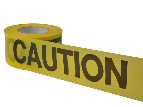 C H Hanson Economy Grade Barrier Tape - Caution Yellow 305m (1000ft)