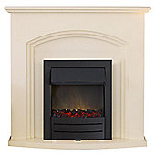 Adam Truro Cream with Black Electric Fire