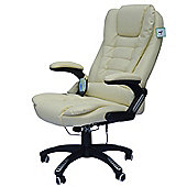 Homcom Massage Office Computer Chair W/Heat-Cream