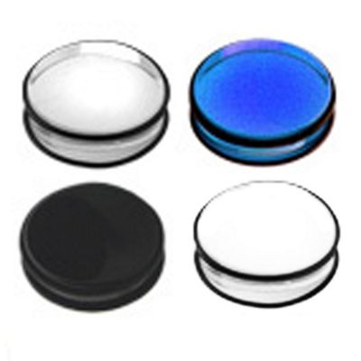 Urban Male Pack of Four Acrylic Ear Stretching Flat Flesh Plugs 14mm Gauge