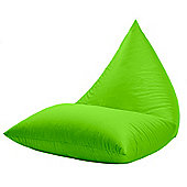 Gardenista Pyramid Shaped Water Resistant Bean bag Lounger - Lime