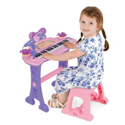 ToyStar 37 Key Musical Keyboard With Microphone & Stool