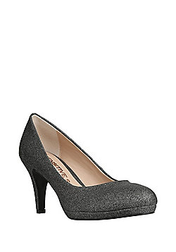 F&F Sensitive Sole Shimmer Court Shoes - Pewter