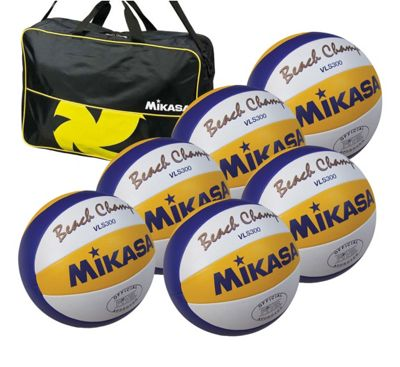 Mikasa VLS300 6 Ball Volleyballs and Bag