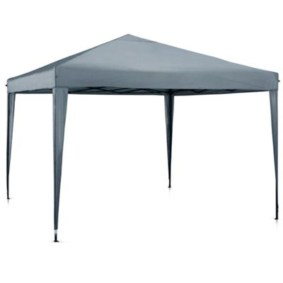 VonHaus Pop Up Gazebo 3x3m - Outdoor Garden Marquee with Water-resistant Cover