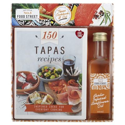 Spanish Tapas Cookbook Oil Gift Set