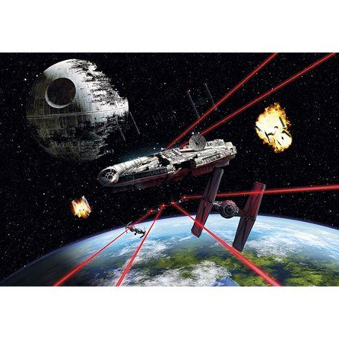 Star Wars Han Solos Millennium Falcon Wallpaper Mural 368 x 254cm