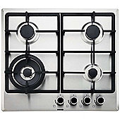 Beko QHMW6422X Integrated 60cm Gas Hob Stainless Steel