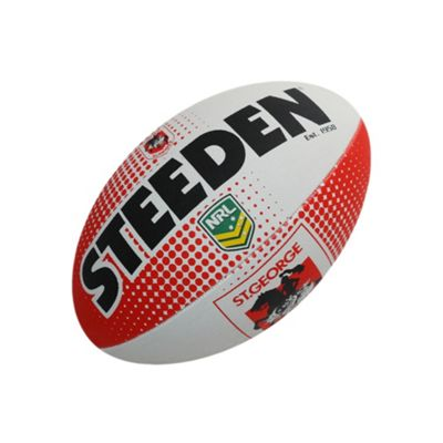 Steeden NRL St George Illawarra Dragons 2018 Supporter Rugby League Ball - 5