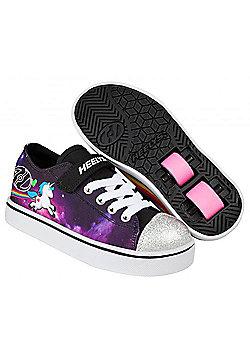 Heelys Snazzy Lo Top Black/Space/Unicorn Kids Heely X2 Shoe - Black
