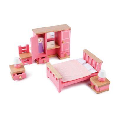 Tidlo Wooden Doll's House Bedroom Furniture Set